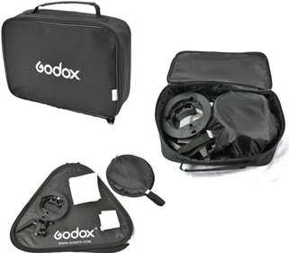 Godox S-bracket Bowens + Softbox 40x40cm + Grid