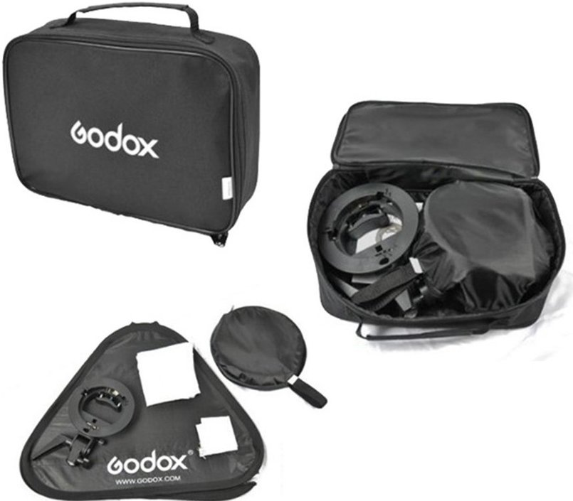 Godox S-bracket Bowens + Softbox 80x80cm + Grid