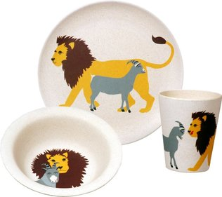 Zuperzozial Hungry Kids Lion kinderserviesset
