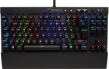 Corsair K65 LUX RGB Cherry MX Red Gaming Keyboard