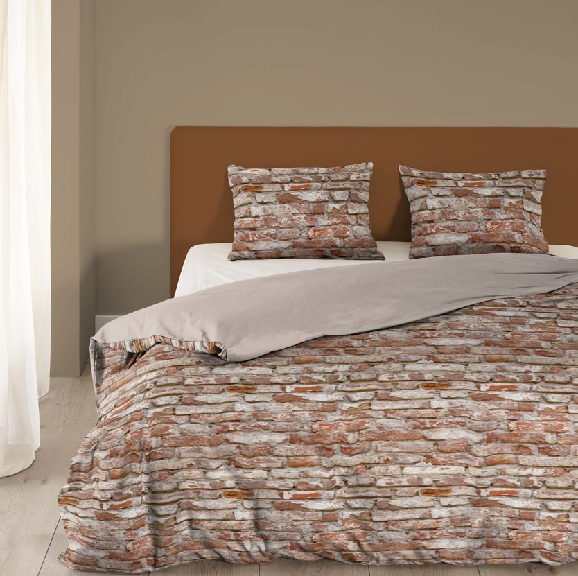 Good Morning Brick duvet cover