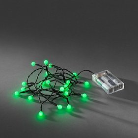 Konstsmide LED Light cord cherry LED green