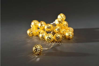 Konstsmide LED Light cord with 20 balls