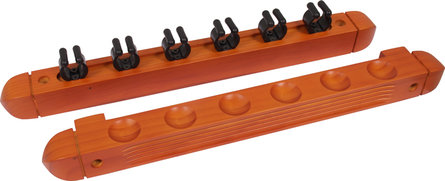 Buffalo cue rack for 6 cues mahogany look