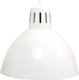 Lamp type biljart Industrieel 46cm wit