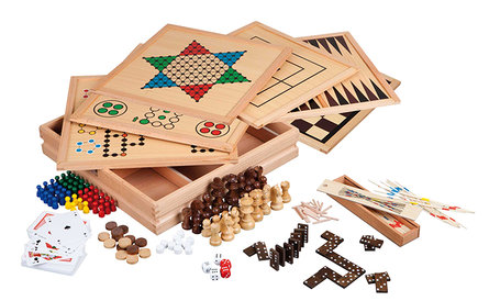 Philos houten game set Compendium 100 - Premium