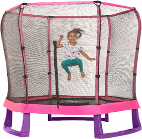 Plum Trampolin Junior Jumper mit Sicherheitsnetz pink / lila 7ft