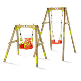 Plum grows swing set Growing 3-in-1 wood