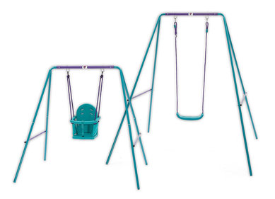 Plum Swing set 2 in 1 Metal turquoise