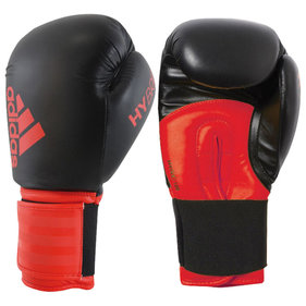 Adidas Hybrid 100 boxing gloves 12oz black / red