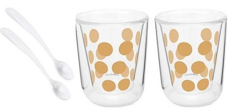 Bag! Designs espresso glass with spoon - set of 2