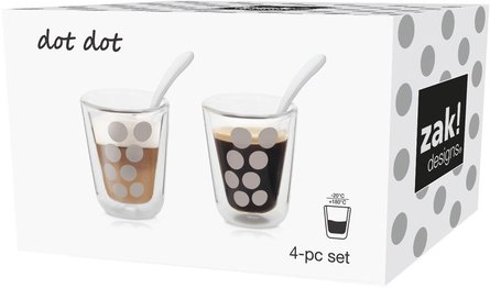 Bag! Designs coffee glass with spoon - set of 2
