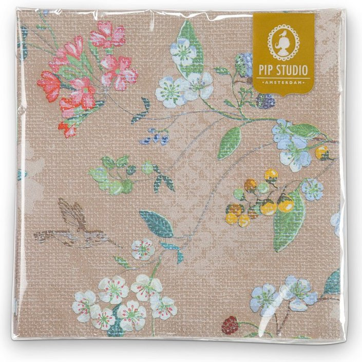 Pip Studio Hummingbirds servet - set van 20