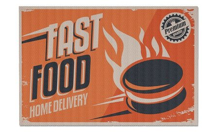 Balvi placemat fast food - set of 2