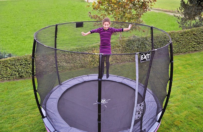 EXIT Elegant Premium trampoline with safety net Deluxe