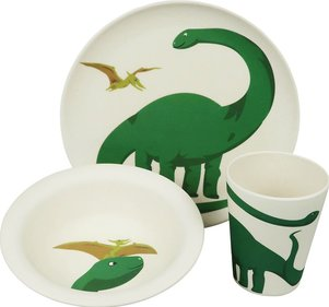 Zuperzozial Hungry Kids Dino children's service set