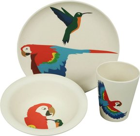 Zuperzozial Hungry Kids Parrot children's service set