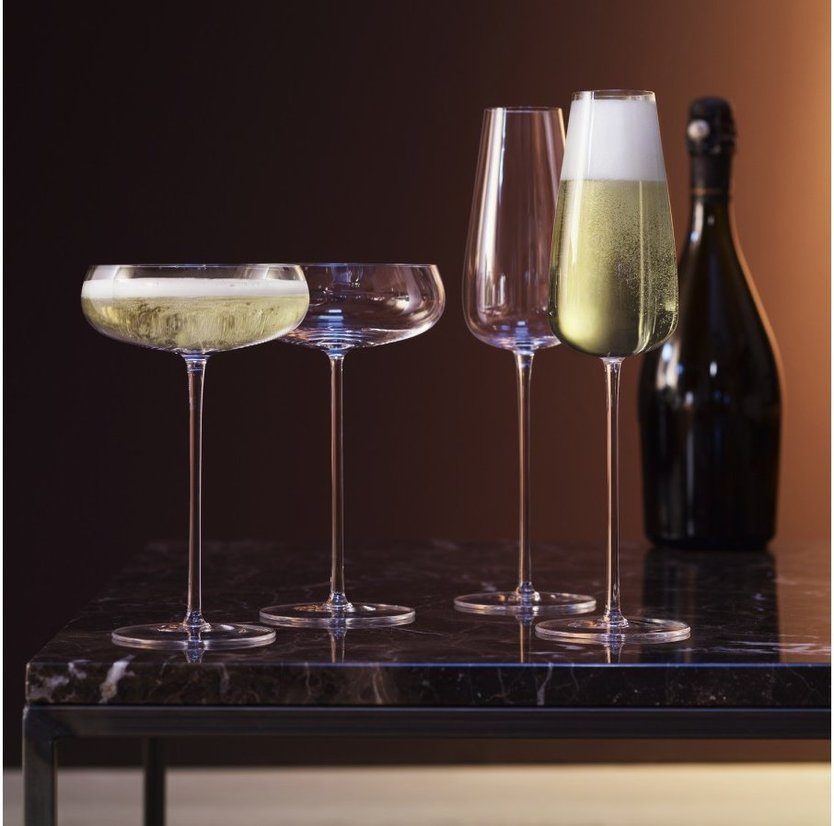 LSA Wine Culture champagneglas 330ml - set van 2