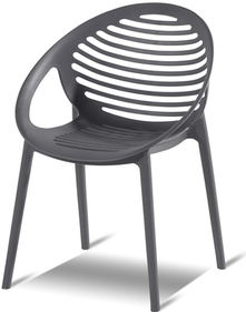 Hartman Romeo stackable garden chair - gray (set of 4)