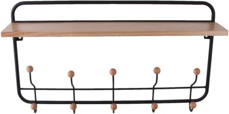 PT Black wall coat rack