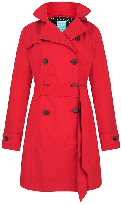 Happy Rainy Days Rosa trenchcoat dames