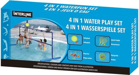 Interline 4-in-1 waterspel set