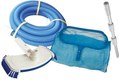 Interline maintenance set for swimming pools with sand filter