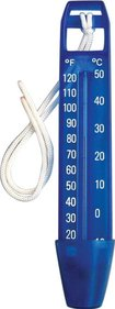 Interline swimming pool thermometer with cord