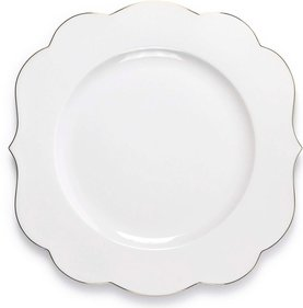 Pip Studio Royal White Plate - bílý
