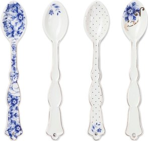 Pip Studio Royal White theelepels set van 4