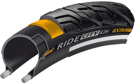 Continental CityRide Reflex Trekking and City Tyres - Black, 42-622