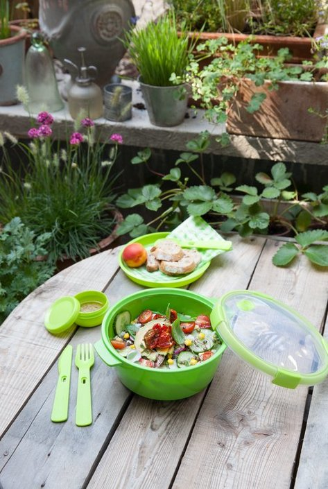 Curver Smart To Go lunchset bestekset & sauscup
