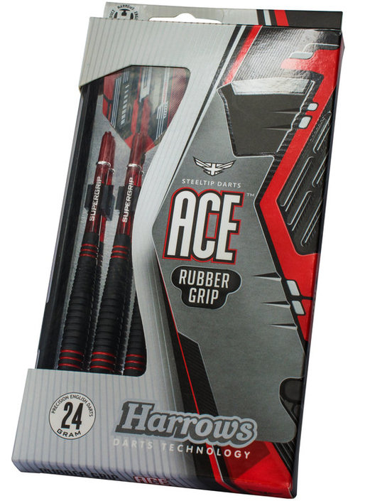 Harrows Ace Rubbergrip Steeltip dartpijlenset
