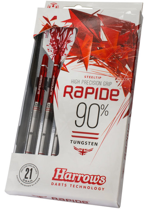 Harrows Rapide 90% Tungsten Steeltip dartpijlenset