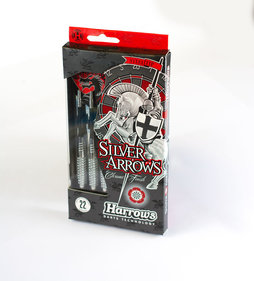 Harrows Silver Arrows steeltip dartpile sæt