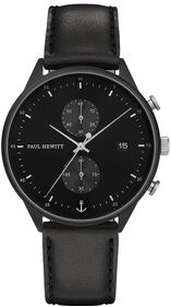 Paul Hewitt Chrono Line silver / leather watch