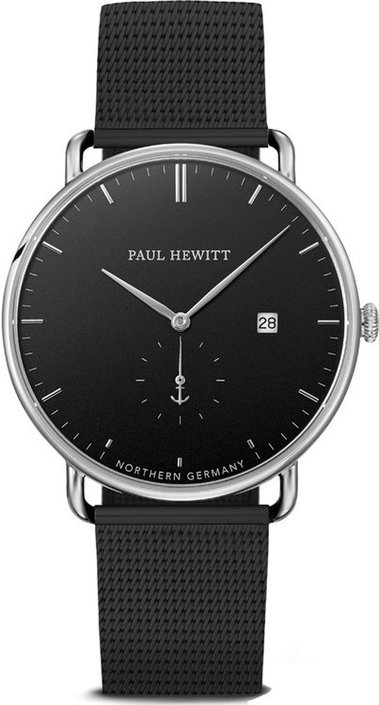Paul Hewitt The Grand Atlantic Black Sea zwart / staal horloge