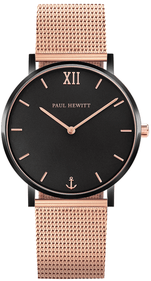Paul Hewitt Sailor zwart/rose horloge