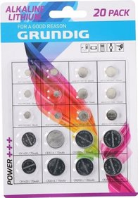 Grundig Assortment of 20 button cell batteries