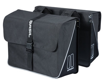 Basil Forte double bicycle bag black