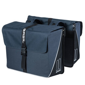 Basil Forte double bicycle bag blue