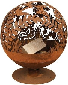 Esschert Design Fallen Fruits Laser Cut fire pit flowers
