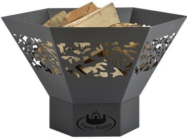 Esschert Design laser cut fire bowl hexagonal