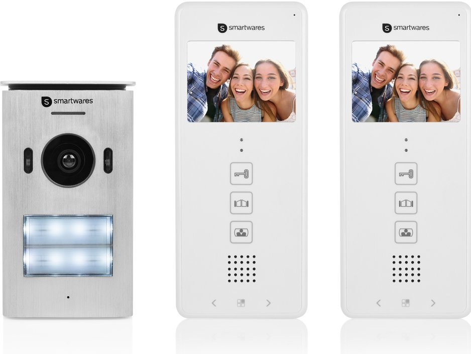 Smartwares DIC-22122 video-intercom met 2 binnenunits