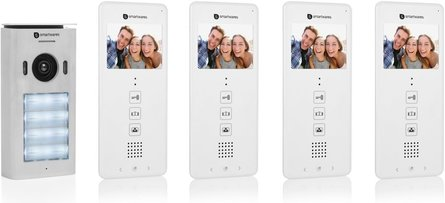 Smartwares DIC-22124 video-intercom met 4 binnenunits