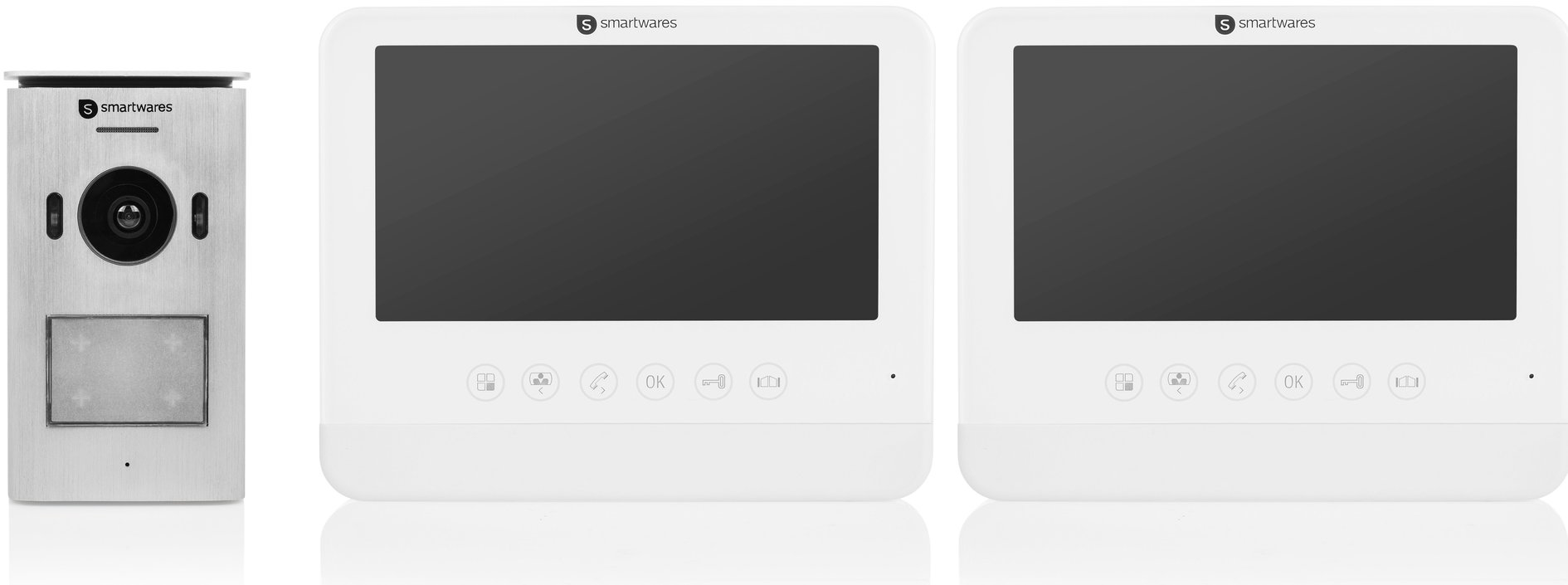 Smartwares DIC-22222 video-intercom met 2 binnenschermen