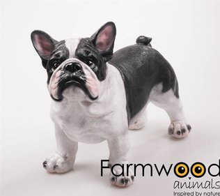 Farmwood Animals French Bulldog garden image