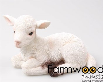 Farmwood Animals Lying Lamb garden image