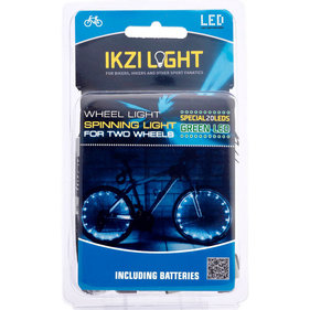 IKZI spoke light with 2x 20 LED green
