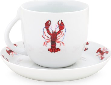 Fabienne Chapot Lobster cappuccino cup and saucer